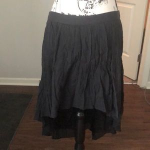 NWOT Rubbish Hi-Lo Crinkle Skirt Lined Cotton XL